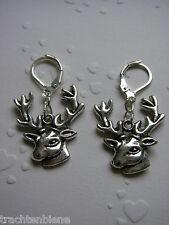 Trachtenohrringe Ohrringe mit Hirsche Geweih passend zum Dirndl Oktoberfest