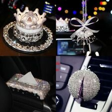 Car Crystal Steering Wheel Cover Tissue Box Phone Holder Air Outlet Perfume