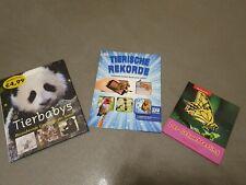 3 Kinder  Tierbücher, Neuwertig