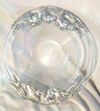 Large Arthur Court Aluminum Horse Centerpiece Crystal Bowl Rare signed France