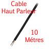 Câble Haut Parleur sous Gaine Noire Section 2x 1.5 mm² Long 10 Métres