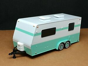 1:64 Green Camper Travel Trailer Home Limited Edition Great for Diorama