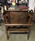 Antique+Copper-Lined+Humidor+Smoking+Cabinet+Stand