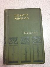 The Ancient Wisdom, by Annie Besant