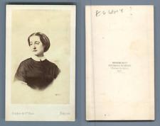 L'Impératrice Eugénie, épouse de Napoléon III vintage CDV albumen carte de