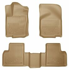 Husky Liners WeatherBeater Floor Mats- 3pc- 98983 -Mercedes GL/GLE/ML 12-16 -Tan