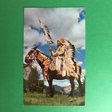 Indian Chief on a Horse Unposted Postcard