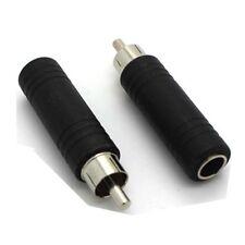 "RCA Fono Enchufe A 6.5mm 1/4"" Mono Jack Hembra a RCA Macho Plug Conector De Audio"