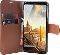 Coque Samsung Galaxy S9+ en Vrai Cuir Fait A Main Fermeture Magnétique