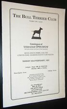 The Bull Terrier Club Catalogue of Unbenched Show 23rd February 1992