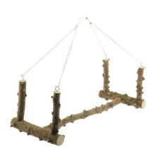 Bird Cage Parrot Large Wooden Swing Stand Parrot Bird Perch Stand