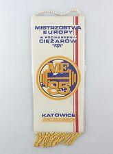 #e6399 Bunting Mistrzostwa Europy W podnoszeniu ciezarow me 1985 Katowice