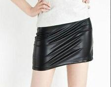 Unbranded Faux Leather Regular Size Mini Skirts for Women
