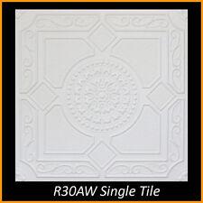 Ceiling Tiles Glue Up Styrofoam 20x20 R30A White Pack of 8