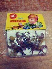 Vintage Free Wheeling Cowboys & Indians On Horseback Toys Sealed In Package