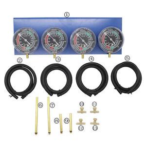 4PCS Fuel Vacuum Gauge Balancer Vacuum Hose Carburetor Extension 4Cylinder Test