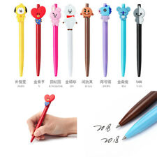 Kpop BTS BT21 Cartoon Ballpoint Pen Jungkook Tata Suga Cute Black Ink Gel Pen JT