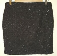 NWT Black sparkly Pencil Skirt by Blue Inc, Uk size 14