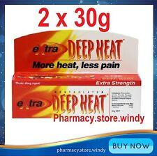 2 x Rohto Mentholatum EXTRA STRENGTH DEEP HEAT GEL Cream Pain Relief Rub 30 gr
