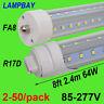 2-50/pack V shaped LED Tube Bulb 8ft, 2.4m FA8 R17D(HO) F96 Fluorescent Bar Lamp