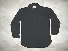 Vintage Naval NAVY CLOTHING FACTORY Military Sailor Black Ship SHIRT USED