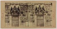 Strasburgo Cattedrale Francia Foto Stereo PL28Th1n15 Vintage Albumina c1865