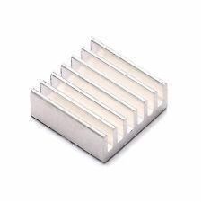 4x Disipador De Calor  de Aluminio Refrigerador 20x20mm para el LED,  CPU, GPU