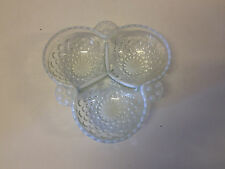 Vintage Moonstone Hobnail White Opalescent Glass Bowl / Dish