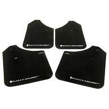 Rally Armor MF8-UR-BLK/WH Urethane Rally Mud Flap Set Black w/White Logo