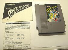 AUTHENTIC Skate or Die NES (1988) + Manual