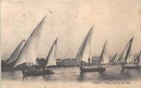 POSTCARD   EGYPT   CAIRO   Sailing  Boats on  the  Nile ( On Active Service )