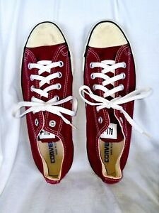 Vintage-Converse Chuck Taylor All Star OX Burgundy-Made in USA