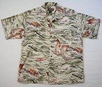 Vintage Patagonia Pataloha Short Sleeve Hawaiian Shirt Sailing Fish Boats Mens M