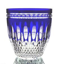 Waterford Clarendon Cobalt Blue Cut to Clear Cased Crystal Ice Wine Bucket New