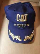 Vintage Cat Hat Vip Gold Leaf & Blue Caterpillar Made In Taiwan Cyrk Licensed