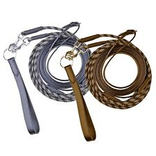 HKM Equestrian Draw Reins With Snap Clips -Black Or Brown Sizes Pony Or Cob/Full