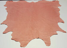 LEATHER COW HIDE CARNATION PINK CHERRY BLOSSOM 60 SF UPHOLSTERY COWHIDES TS-6112