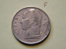 1949, 5 Francs, Belgium, Belgie, Belgique