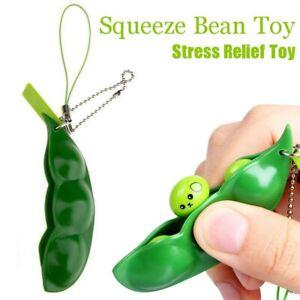 Cute Soy Bean Pea Pod Fidget Stress Toy Keyring Anti Anxiety Stress Relief Tool