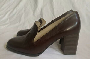 Enzo Angiolini En-Maxie Women's Brown Leather heels Shoes - Size 7.5 M