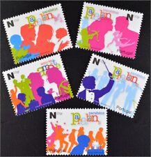 Portugal 2006, Nr. 3028-32 A, Grußmarken, Feiernde Kinder, Liebespaare Amor