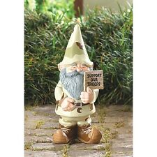 Gnome Figurine Support Our Troops Outdoor Garden Gnome