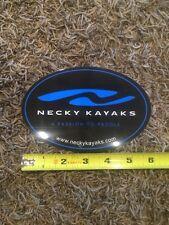 """Necky Kayak Paddle Sticker Decal Approx 6"""" Black Blue"""