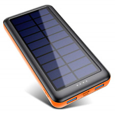 Pxwaxpy Solar Power Bank 26800mAh, Solar Charger ?Type C & Micro USB Input? High