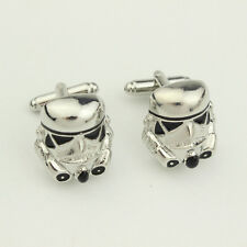 Star Wars Novelty Stainless Steel Shirt Wedding Party Men's CuffLinks Gifts 2017