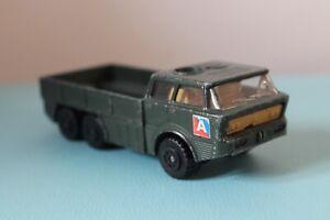"Matchbox K-116 ARTILLERY TRUCK 5"" Diecast Toy 1977 Lesney BATTLE KINGS Used"