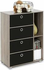 Furinno Multipurpose 4 Drawer Storage Unit - French Oak Grey FInish