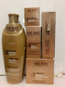 x1 PURE WHITE GOLD Lotion, Serum, Soap, Face Cream, Tube 1set