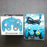 Nintendo Official GameCube Emerald Blue Controller Used W/Box From Japan FedEx