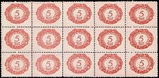 Scott # J1 - 1920 - ' Numeral '; Postage Due - Block of 15